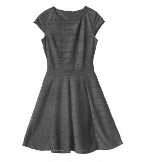 Black sleeveless midi dress