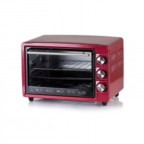Electric oven includes bake pan & toasting rack