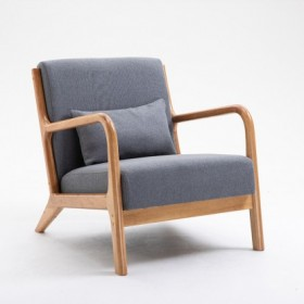 Wood chair with cushion