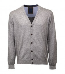 Men's slim fit knitted v neck cardigan