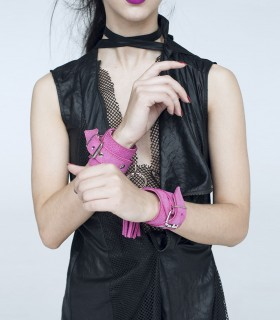Soft-touch lined leather sleeveless black summer Jacket